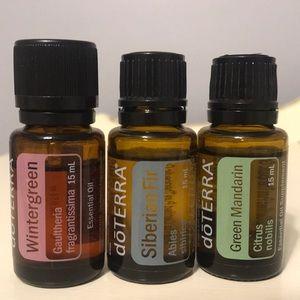 doTERRA essential oils Wintergreen, Fir, Mandarin